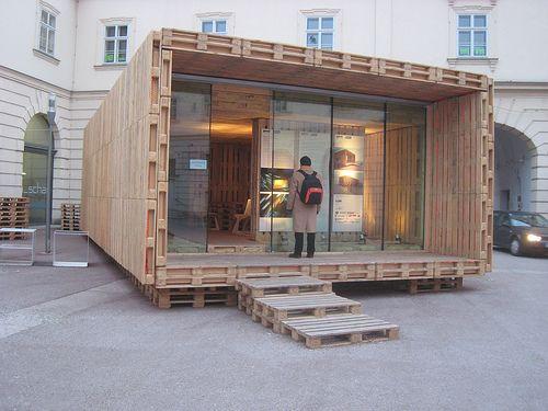 designhouseliving HOUSEkoti: Arkkitehtuuria kuormalavoista