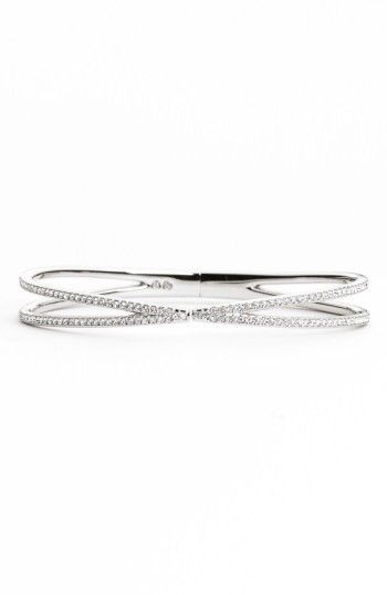 6f3e10e84 Free shipping and returns on Nadri Pavé Hinged Crossover Bracelet (Nordstrom  Exclusive) at Nordstrom
