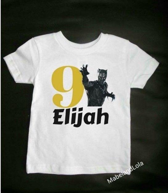 07c05791 $13.99 Ebay Black Panther Themed Birthday Party Custom T - Shirt ...