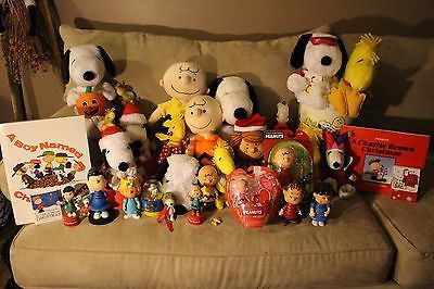 Huge Lot of Peanuts/Snoopy Toys and More