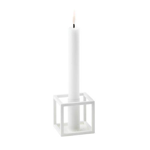 Kubus 1 Kerzenständer weiß 7 x 7 cm, h 7 cm