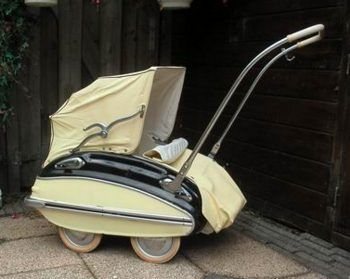 Curvy, Swiss-made #lowrider baby buggy from #1959 called the Helvetia.