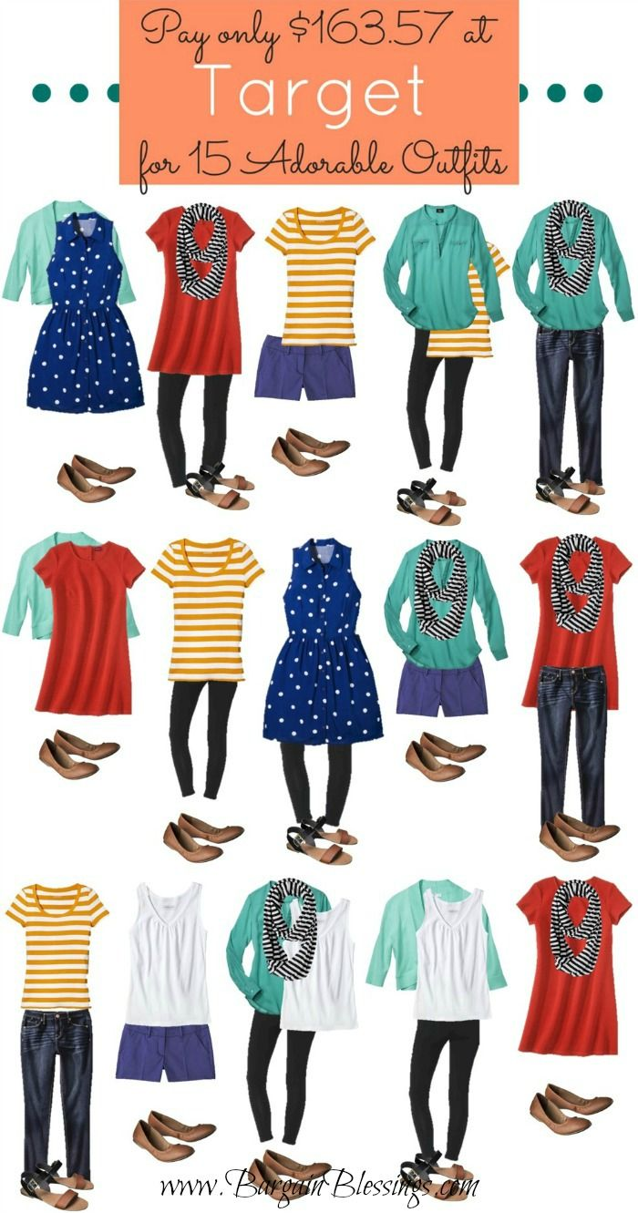 I just picked up 15 full outfits from Target for less than $164! Here is how I did it! #fashion #target #deals