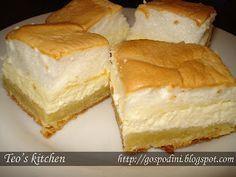 Prajitura cu branza dulce si spuma de ou (Prajitura Neli)   Retete usoare & retete ilustrate