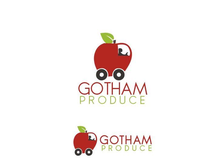 Gotham Produce fresh fruit delivery B2B B2C Serious, Modern Logo Design by Critical Designs
