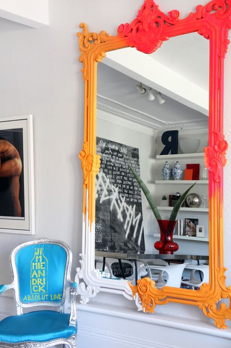 Jimmi Martin London House  -  AMAZING Mirror; killer Graffitti