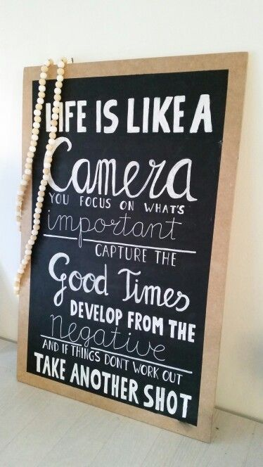 Life is Like a camera love this quote made this one for myself