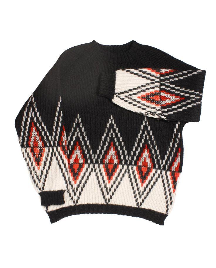 #Wooljacquard sweater #wool60s  #vintagemountainwool #vintagesky #vintagewool http://www.madeinused.com/product-category/knitwear/mountain-knitwear/