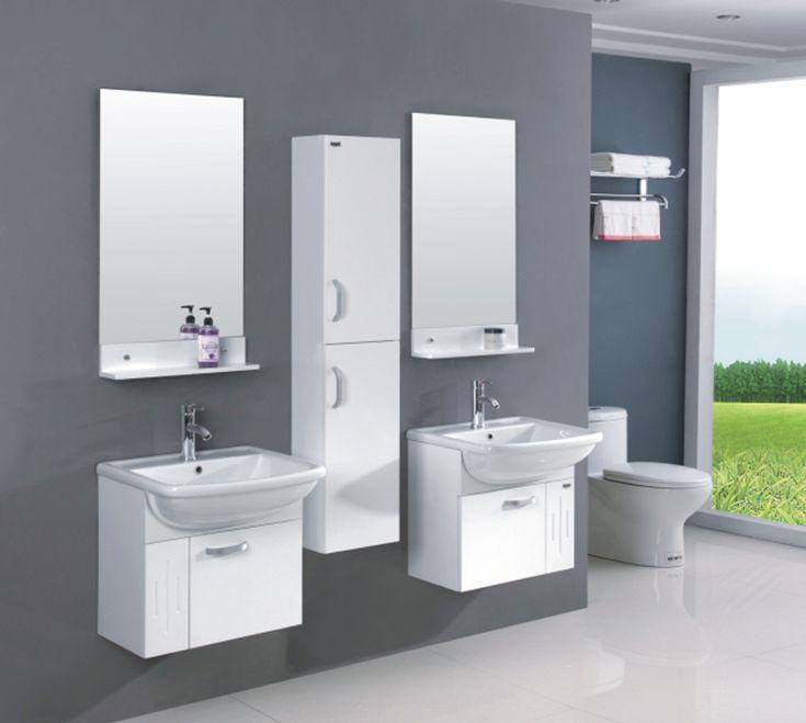 precio competitivo diseo moderno cuarto de bao vanidad mueble de bao de pvc conjunto
