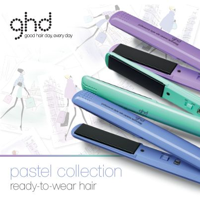The new  Ghd pastel collection now available at Yazz Number One Hair Salons. Take your cue from the catwalk with their prettiest collection of stylers yet. In shades of periwinkle, jade and lavender, styling never looked so chic. Retail price £110. #ghdpastels