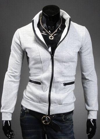 Simple Zip Closed Stand Collar Sweats – teeteecee - fashion in style