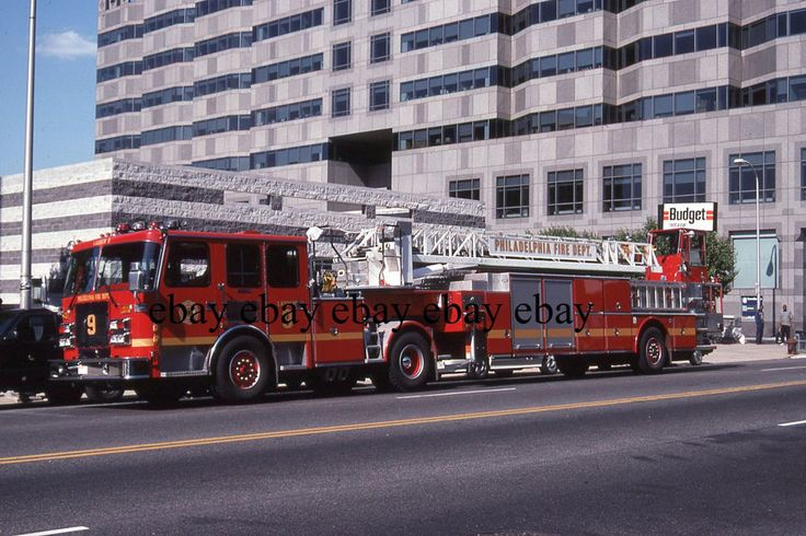 Fire Apparatus Slide - Philadelphia PA - Duplex LTI Ladder 9
