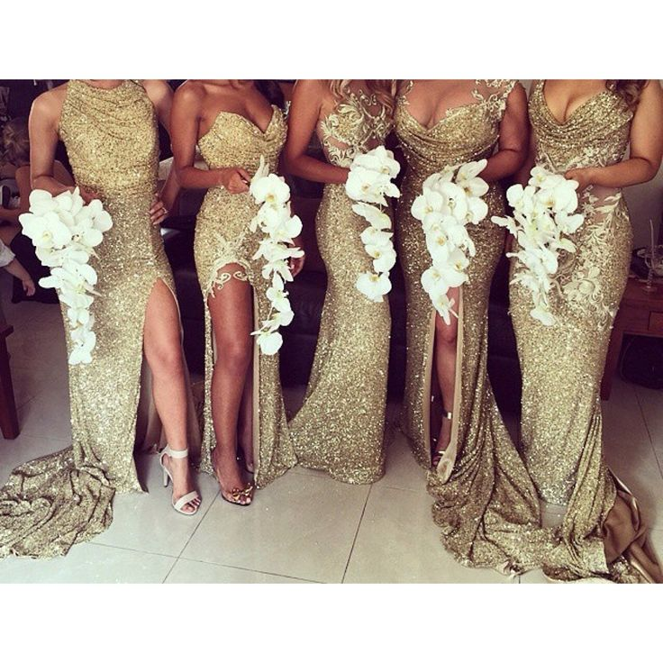 """chanel-and-louboutins: """"Love these bridesmaids dresses , I've never seen that color before  """""""