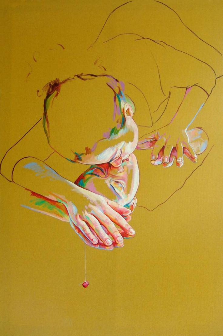 "Saatchi Art Artist Cristina Troufa; Painting, ""Amo-te (I love you) SOLD"" #art"