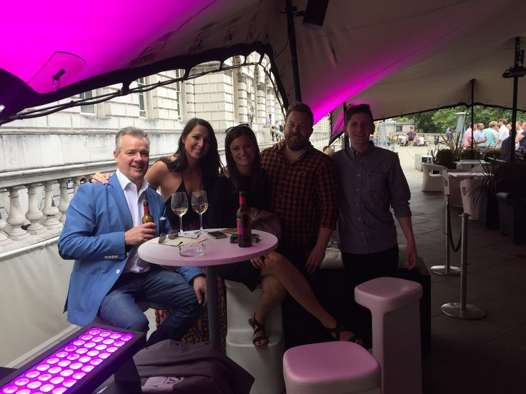 Team McFly taking a little break mid way through our cryptic challenge through Covent Garden. Siren summer party!