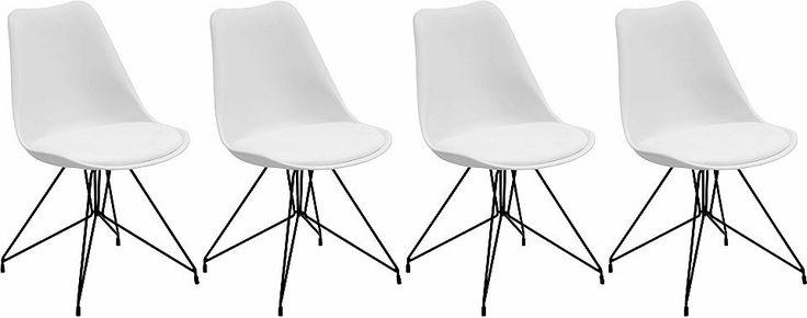 Schalenstühle mit schwarz lackiertem Metallgestell (2 oder 4 Stück) Jetzt bestellen unter: https://moebel.ladendirekt.de/dekoration/aufbewahrung/schalen/?uid=c2f1178f-9804-5ecd-973b-f5d9ac897b65&utm_source=pinterest&utm_medium=pin&utm_campaign=boards #stühle #aufbewahrung #dekoration #schalen