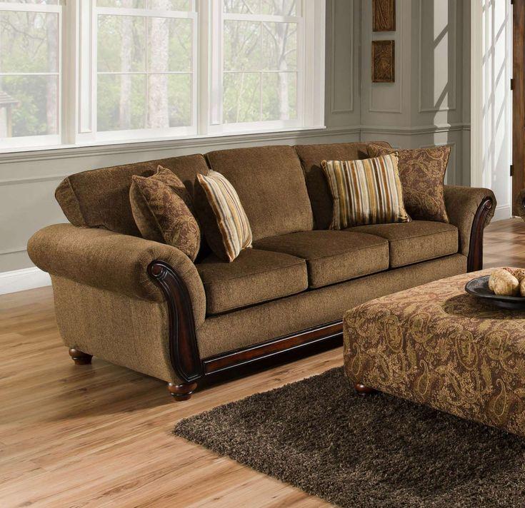 Chelsea Home Furniture Fairfax Sofa Cornell ChestnutAlpaca