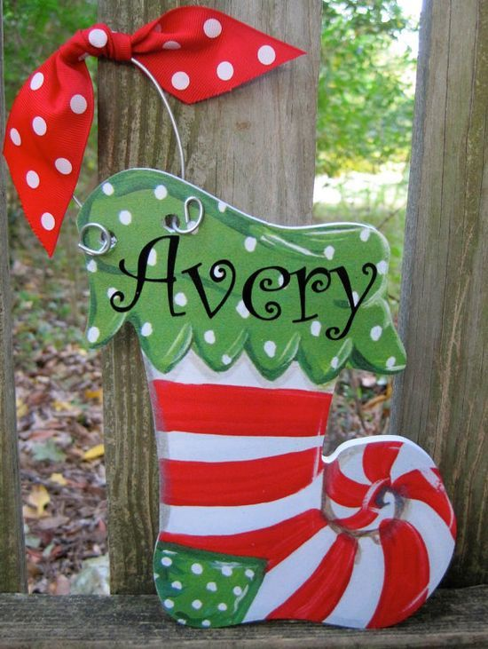 Personalized Christmas ornaments by twosisters76 on Etsy