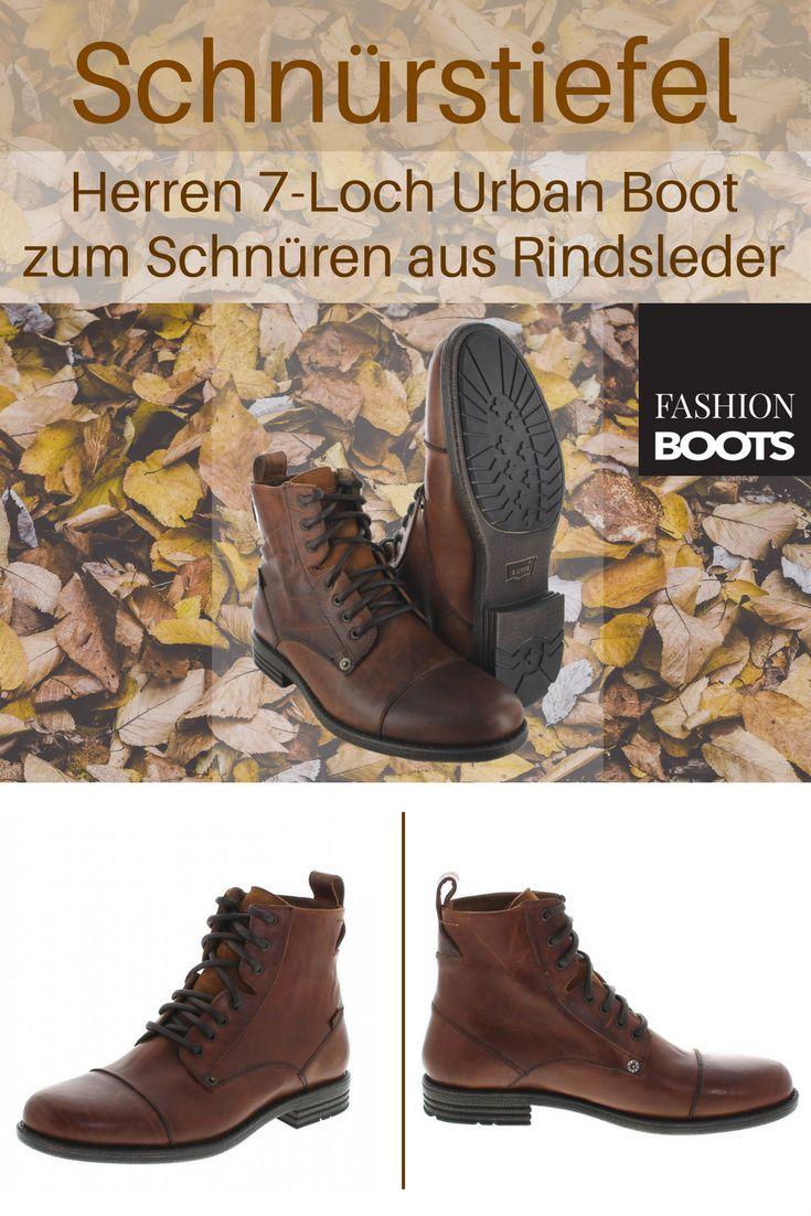Levi´s Footwear EMERSON Brown Schnürstiefel - braun | Trendiger Herren 7-Loch Urban Boot zum Schnüren aus Rindsleder