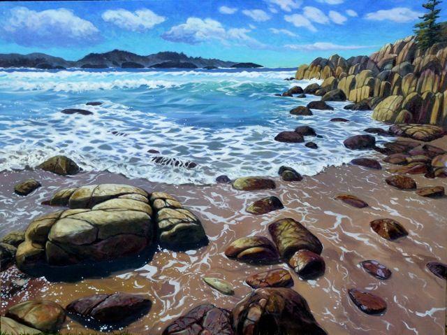 Sand and Surf 36X48 - Janice Robertson