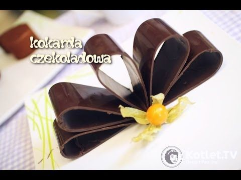 Kokarda z czekolady - dekoracja na tort - Kotlet.TV - YouTube