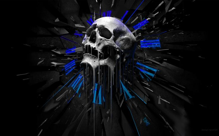 Skull Melting Clocks wallpaper from Skulls wallpapers