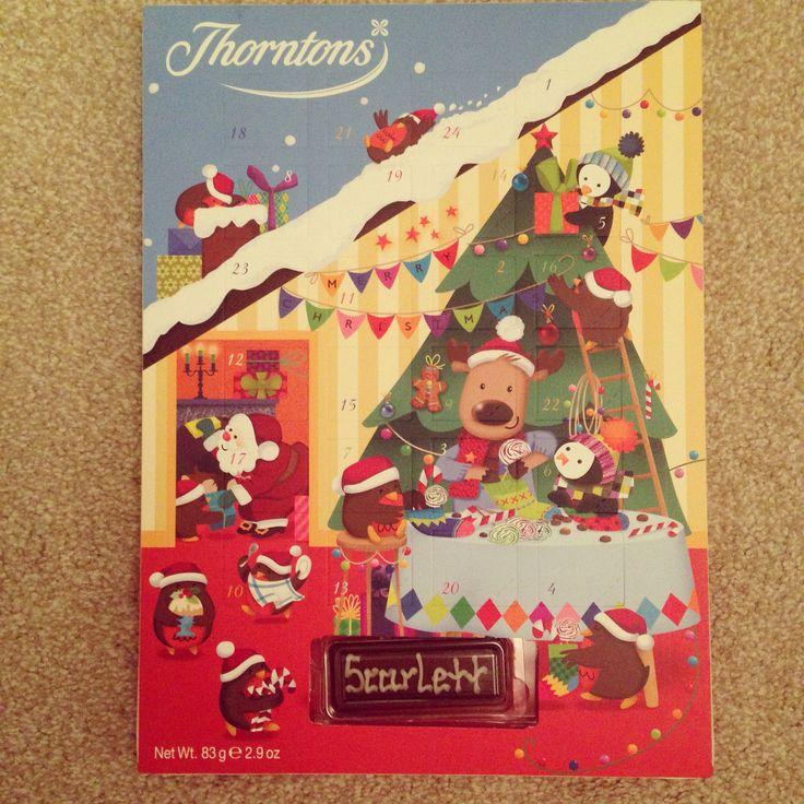My Princesses advent calendar!!! #christmas #thorntons #personalised xXx