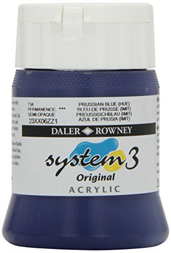Daler - Rowney System 3 250ml Paint Ink Pot - Prussian Blue Hue