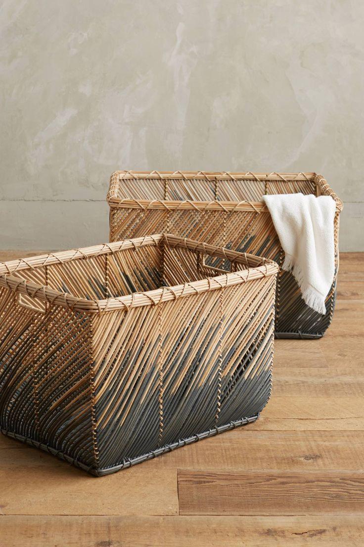Handwoven Rattan Baskets - anthropologie.com