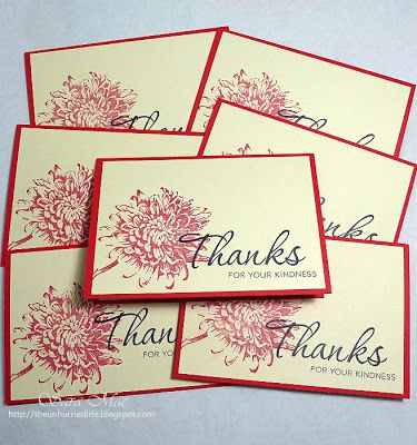 The Unhurried Life: Quick Thank You Notes