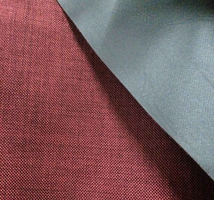 Polyester 600d Melange Two Tone Oxford Fabric Waterproof Pvc Coating Oxford Fabric Fabric Pvc Coat