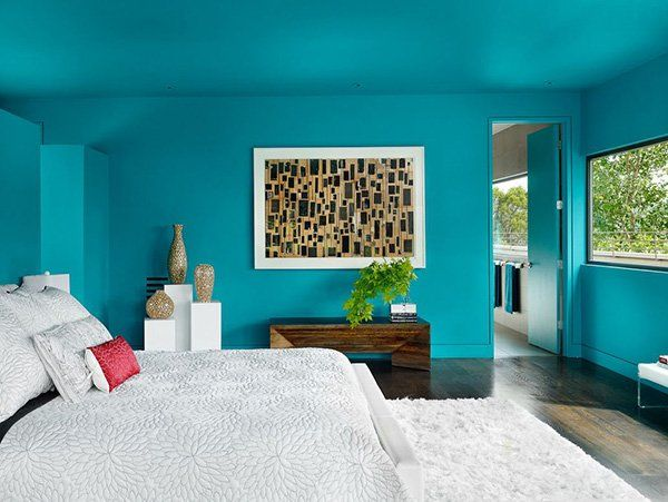 20 fashionable turquoise bedroom ideas - Blue And White Bedroom Designs