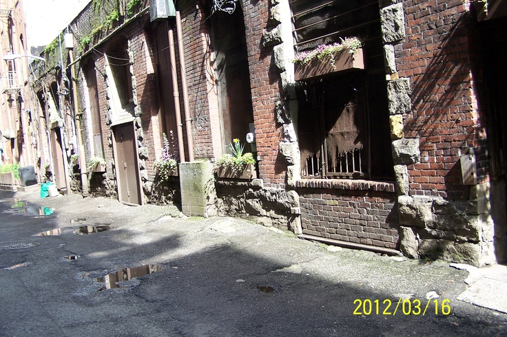 Seattle, Pioneer Square back alley