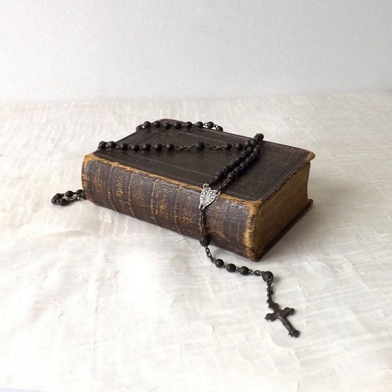 Antique 1871 Brown Leather Holy Bible by MomsantiquesNthings, $45.00