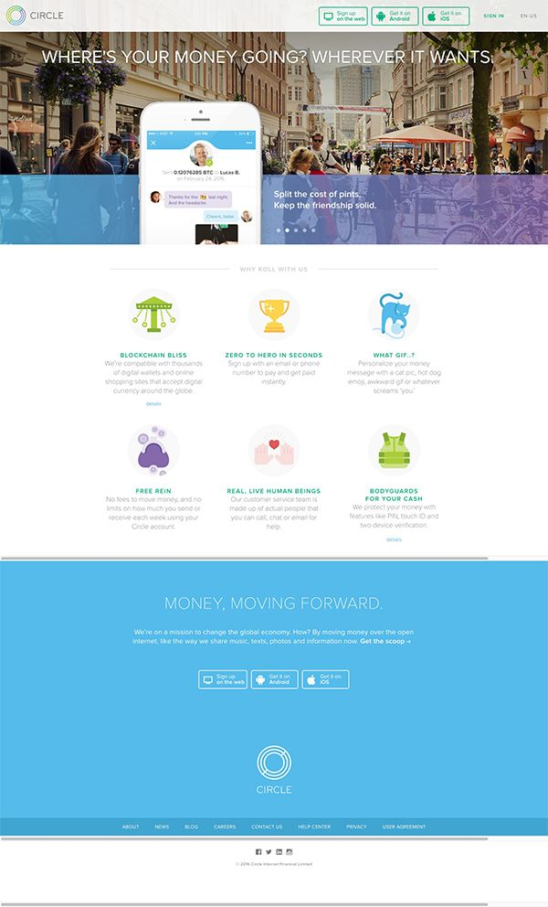 Where's Your Money Going? | Landing Page Design Inspiration