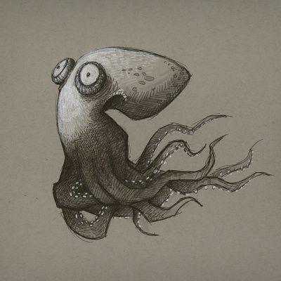 Octopus Art Print by Tim Probert
