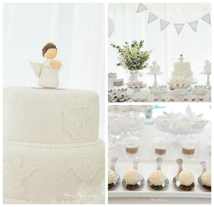 Elegant White Baptism Dessert Table via Kara's Party Ideas   KarasPartyIdeas.com (2)