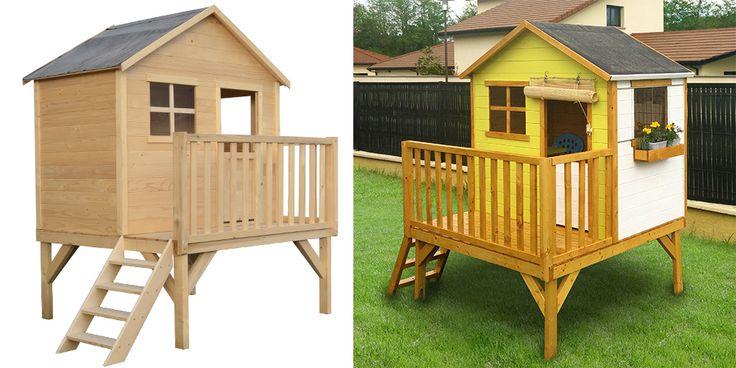 Maisonnette Nino en bois - Zoom