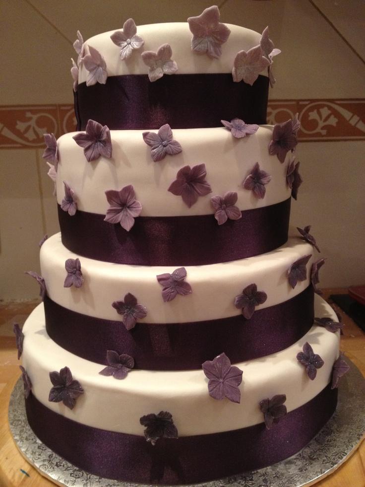 Tarta Morada para boda. Wedding cake.