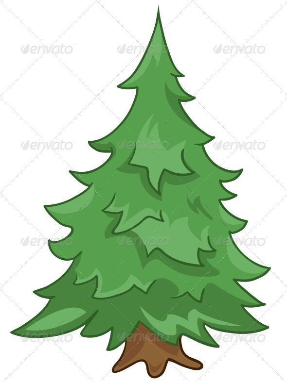Cartoon Nature Tree Fir Isolated On White Background Vector Background Cartoon Fir Isolated Nature Tre In 2020 Nature Tree Cartoon Trees Christmas Tree Pictures