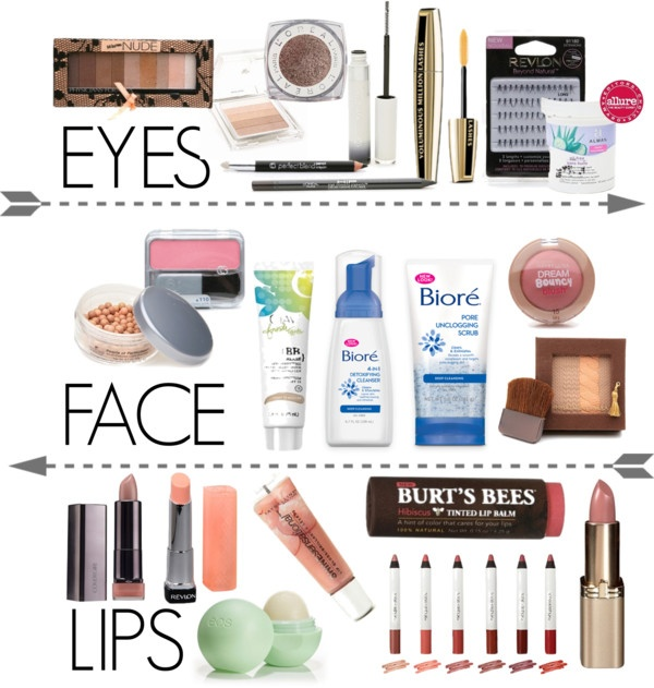 make up essentials drugstore edition F A C E I T