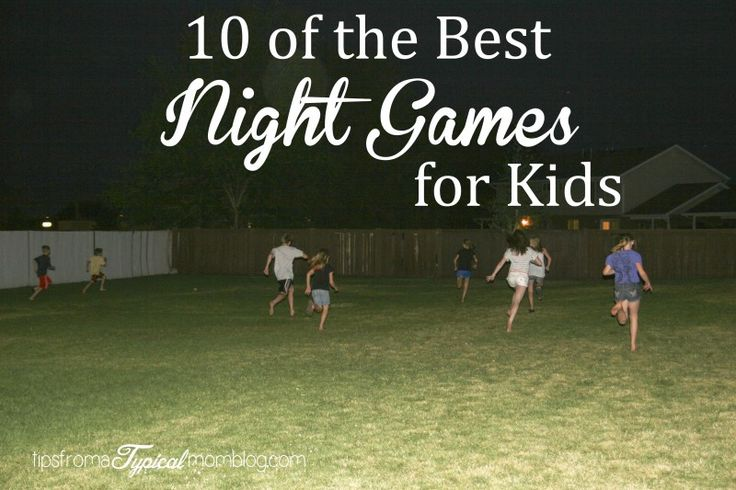 10 of the best outdoor summer night games for kids from Tips From a Typical Mom.