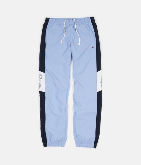 545134a974 Champion Elastic Cuff Tracksuit Sweatpants - Light Blue / Navy ...