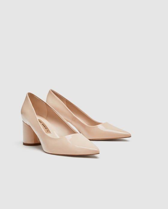 1ee456ae SALÓN TACÓN ANCHO   In her shoes   Zapatos, Tacones y Zara