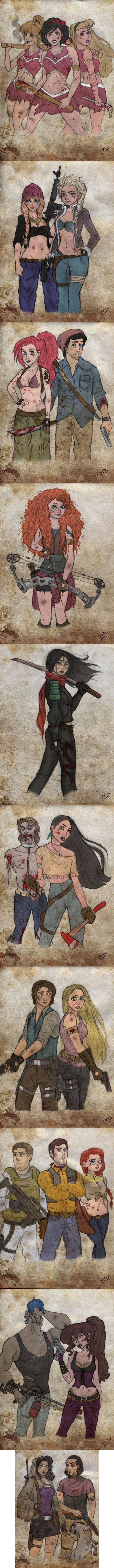 If Disney characters were in the zombie apocalypse