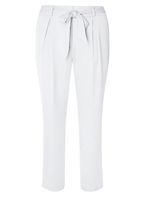 Womens Silver Satin Crepe Tapered Trousers- Silver