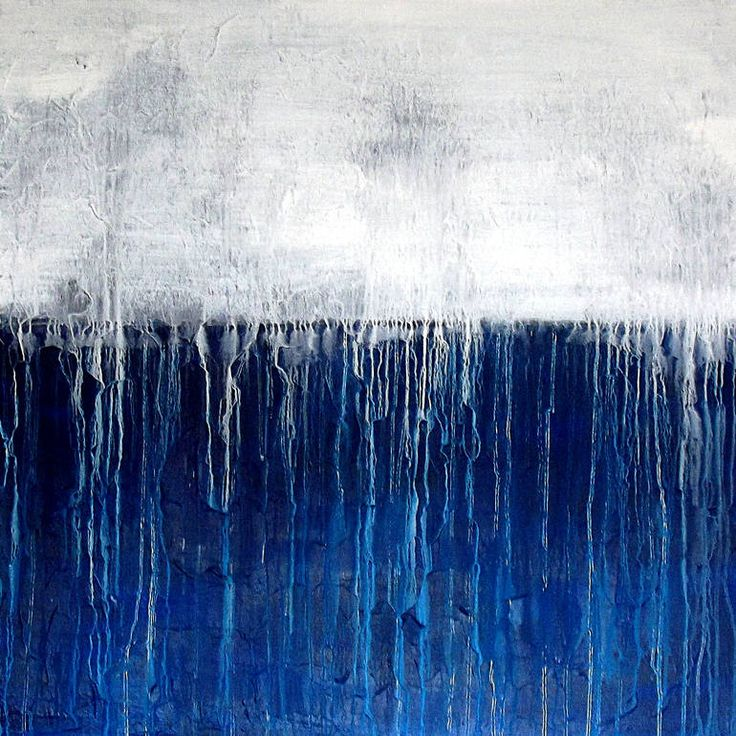 """""""Blue White 20150315, Blue Moon,"""" abstract blue color field painting by Heike Schmidt 
