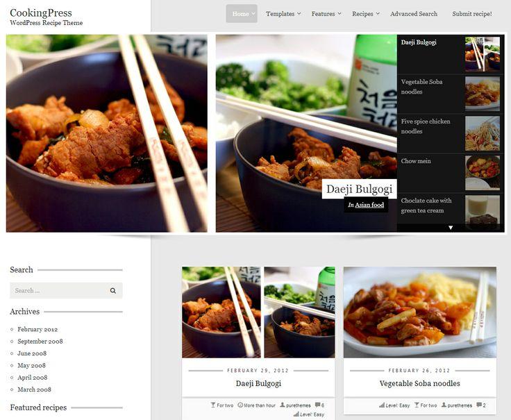 Mejores 13 imágenes de Wordpress Food Theme Templates en Pinterest ...
