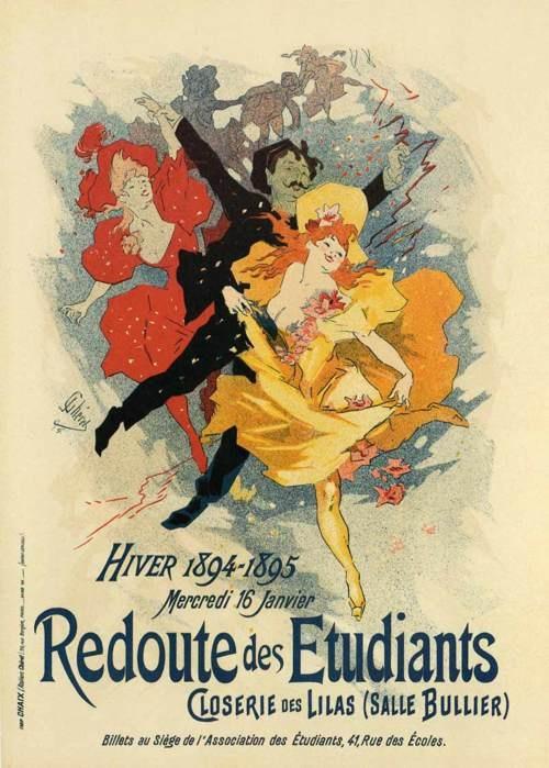 Jules Cheret, Redoute de Etudiants, 1894