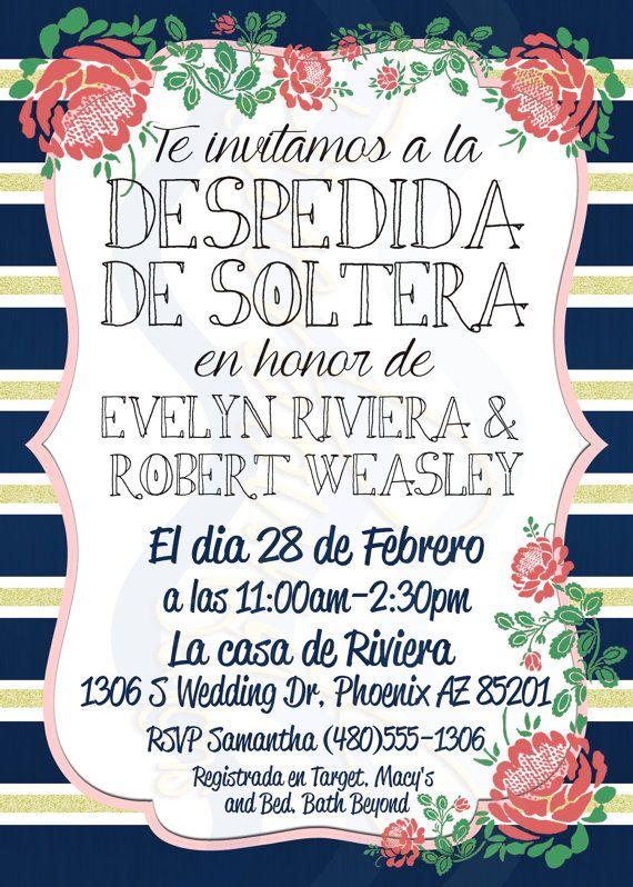 Imprimible Invitacion de Despedida de Soltera by RiverMamasDesigns